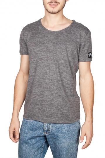Oyet ανδρικό T-shirt σκούρο γκρι μελανζέ