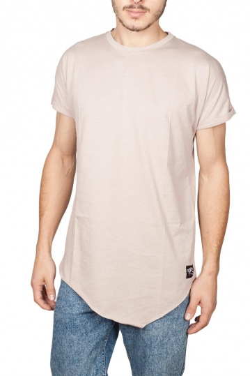 Oyet men's asymmetrical T-shirt ecru