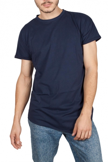Oyet men's asymmetrical T-shirt navy
