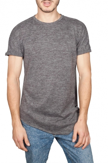 Oyet men's asymmetrical T-shirt dark grey marl