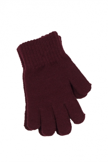 Γυναικεία πλεκτά γάντια σκούρο μωβ