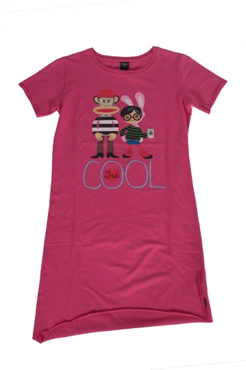 Paul Frank T-shirt dress fuchsia for girls
