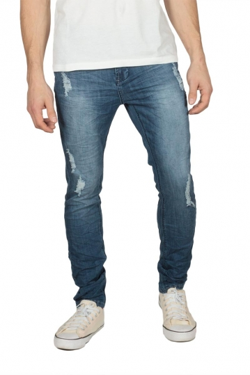 Men's skinny fit distressed jean