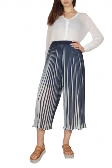 Ryujee Ashley plisse culottes blue-white