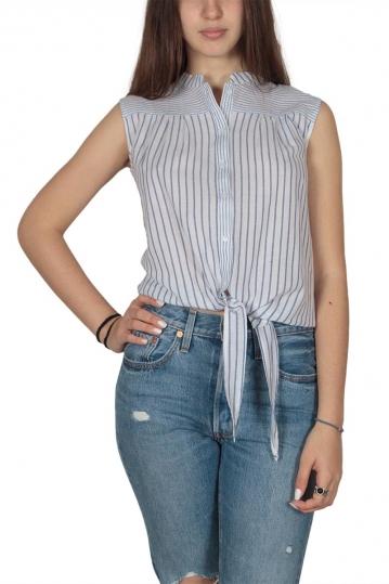 Ryujee Hori sleeveless tie-waist shirt