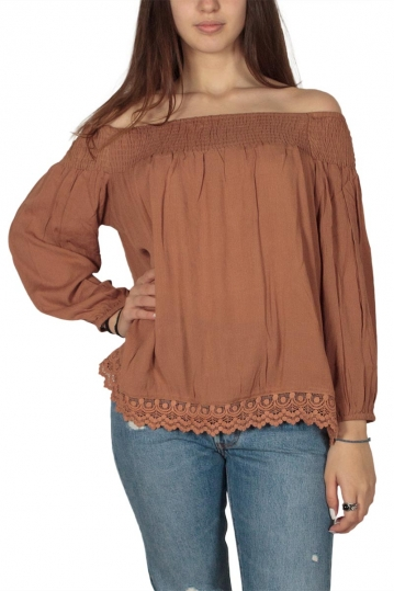 Soft Rebels Joe Bardot blouse with lace detail
