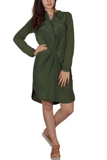 Soft Rebels Me twist knot dress aloe green