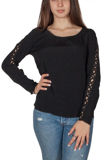 Soft Rebels Kaya long sleeve blouse black