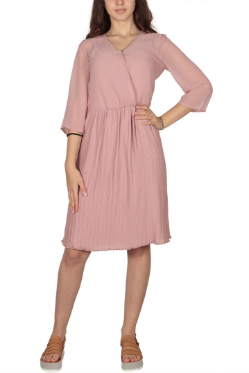 Soft Rebels Signe pleated dress sugar glow