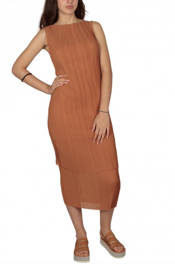 Soft Rebels Signe plisse layer dress mocca