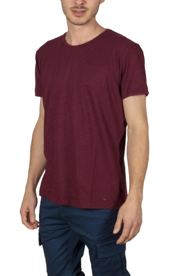 Superior Vintage pocket T-shirt bordeaux