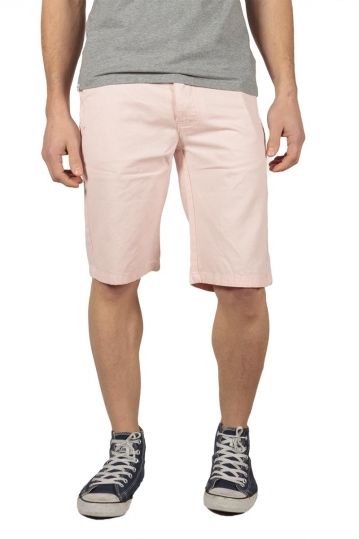 Bellfield men's chino shorts pale pink