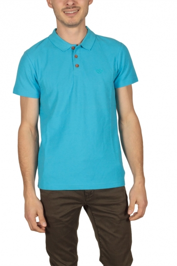 Men's pique polo shirt blue