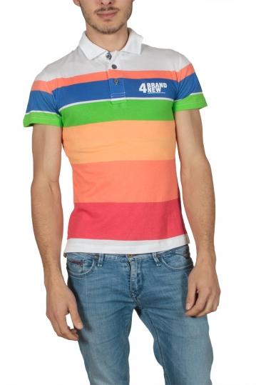 Men's polo t-shirt multicolored