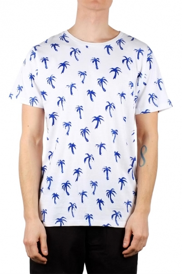 Dedicated ανδρικό t-shirt AO painted palms λευκό