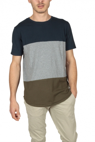 Globe Piper men's t-shirt navy-grey-khaki