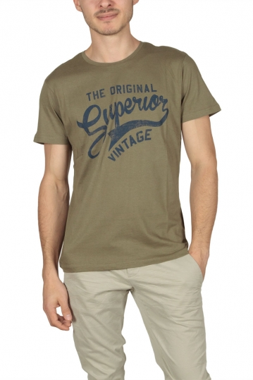 Superior Vintage men's t-shirt khaki