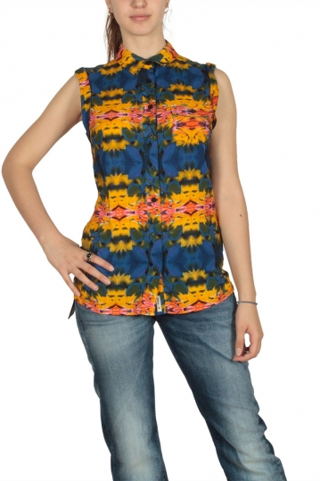 Bellfield women's all over printed sleeveless shirt