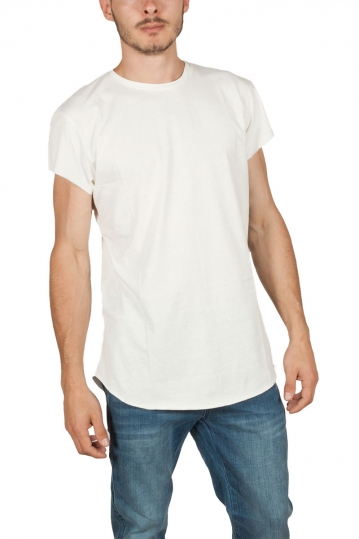 Oyet men's T-shirt ecru with side stripes