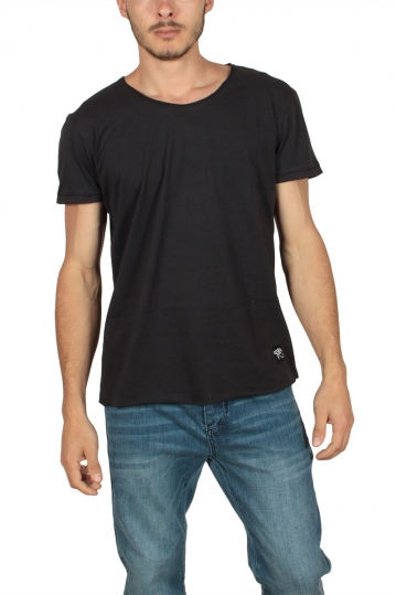 Oyet men's back print T-shirt black
