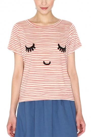Pepaloves stripes t-shirt cream-red