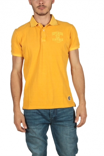 Superior Vintage men's pique polo mustard