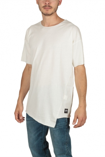Oyet men's asymmetric T-shirt ecru