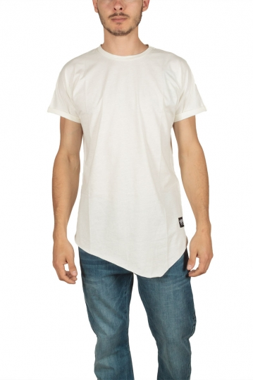 Oyet men's point hem T-shirt ecru