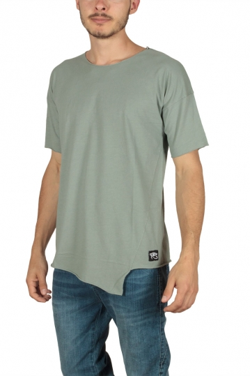 Oyet men's asymmetrical T-shirt khaki