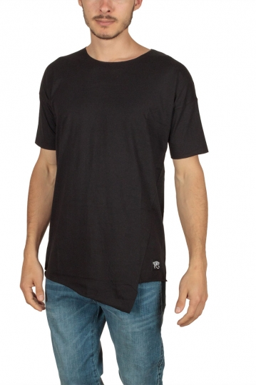 Oyet men's asymmetrical T-shirt black
