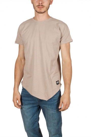 Oyet men's point hem T-shirt nude