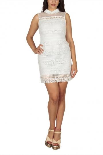Ryujee Dolia mini lace dress white