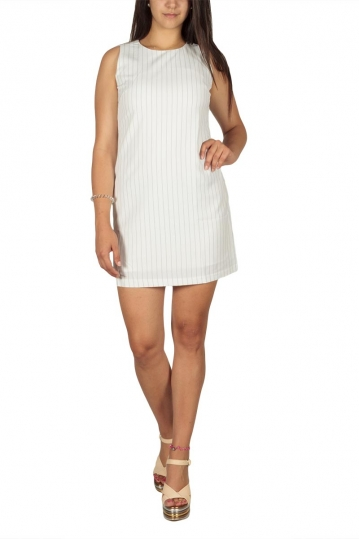 Ryujee Dyn striped mini dress white