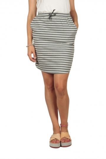 Soft Rebels Stella striped skirt gray-off white