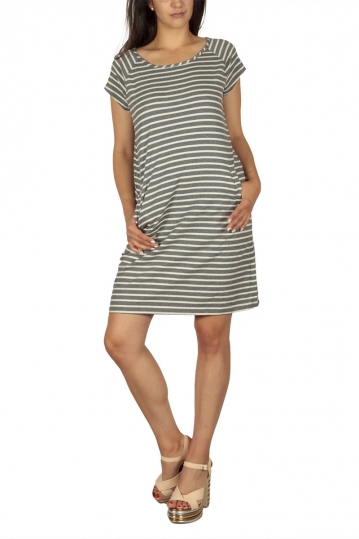Soft Rebels Stella striped mini dress grey-ecru