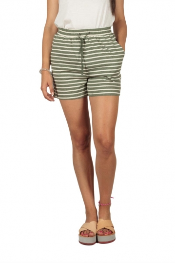 Soft Rebels Stella striped shorts khaki-off white