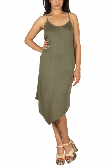 Soft Rebels Inge point hem dress khaki