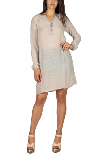 Soft Rebels Trine tunic dress beige