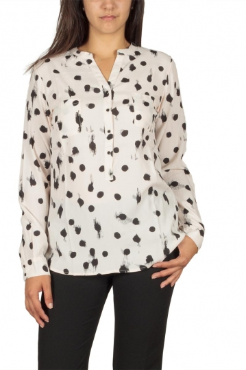 Soft Rebels Zoya shirt ecru with black polka dots