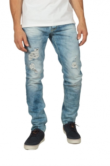 Men's distressed slim jeans