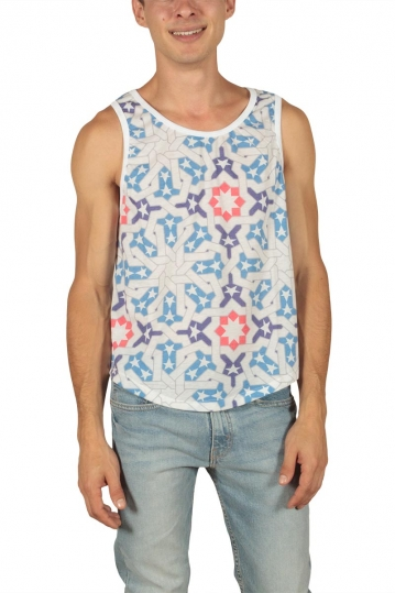 French Kick Americain ανδρικό tank top white