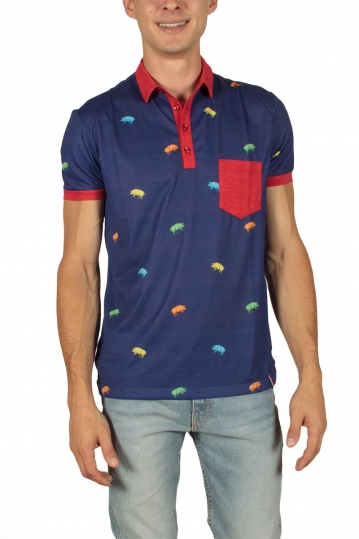 French Kick Miam men's polo navy