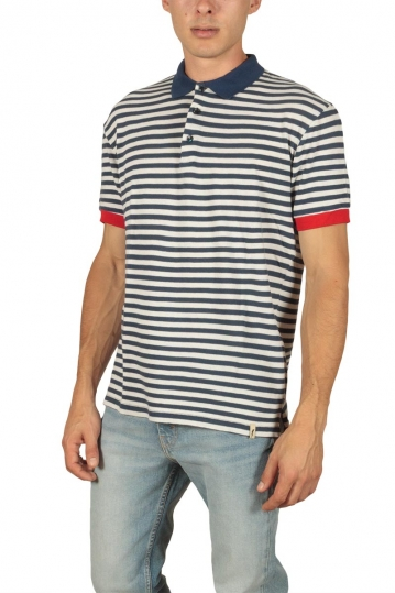 French Kick Marine men's striped polo navy
