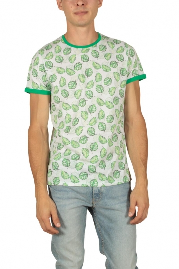 French Kick Airwick men's t-shirt white-green