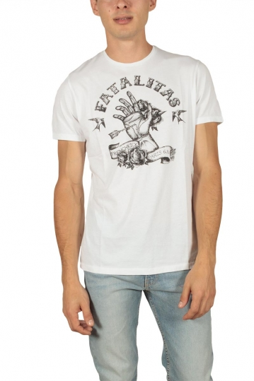 French Kick men's t-shirt Ectoplasme white