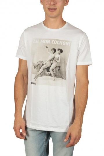 French Kick men's t-shirt Diablesses white