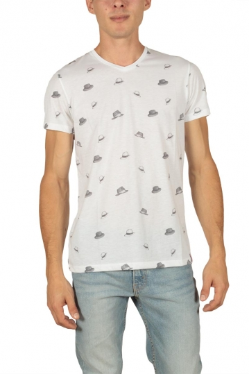 French Kick Fresh hat men's t-shirt white