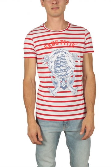 French Kick Froussard men's t-shirt red