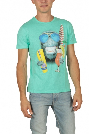 French Kick Loulou men's t-shirt turquoise