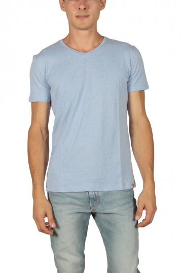French Kick men's t-shirt Vee light blue